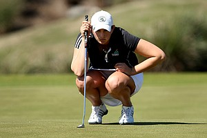 Coastal Carolina's Jessica Alexander during the final round at No. 14. Alexander finished in fourth.