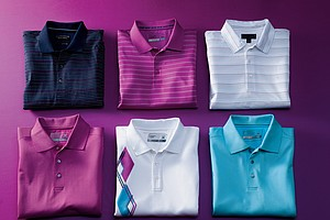 Cutter & Buck's men's golf apparel line.