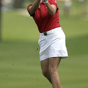 Cristie Kerr of the U.S. hits the ball from fairway of the 1st hole during the second round of LPGA Thailand golf tournament in Pattaya, southern Thailand Friday, Feb. 18, 2011.