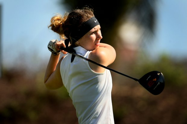 Kendall Prince during the first round of the Annika Invitational. Prince is T2 after the first round.