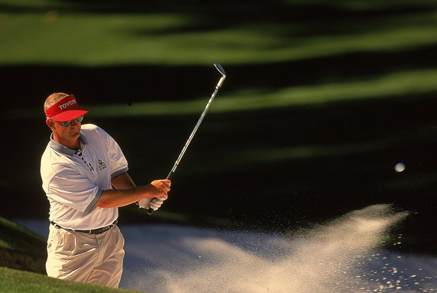 6 Apr 2000: Sandy Lyle of Scotland in action during the first round of the US Masters at Augusta National in Georgia, USA.