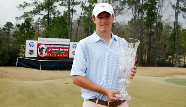 Jordan Spieth after winning the 2011 AJGA HP Boys Championship.