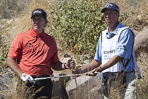 Phil Mickelson during the second round of the Match Play Championship.