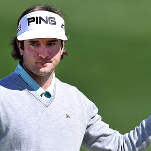 Bubba Watson acknowledges the crowd after making a birdie during the Accenture Match Play Championship.