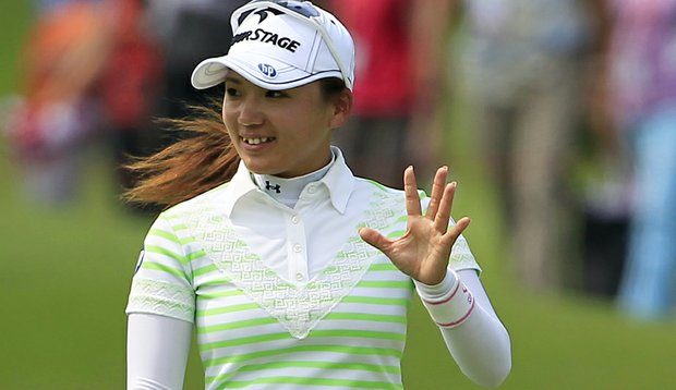 Chie Arimura during the third round of the HSBC Women's Champions