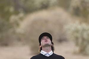 Bubba Watson reacts after his shot out of the bunker on 18th hole just fell short of the green while playing Martin Kaymer during the semifinals of the Match Play Championship golf tournament Saturday, Feb. 26, 2011, in Marana, Ariz. Kaymer won 1 up to advance to Sunday's final.