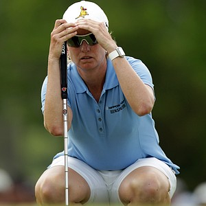 Karrie Webb of Australia in action during the final round of the HSBC Women's Champions at Tanah Merah Country Club on February 27, 2011 in Singapore, Singapore.