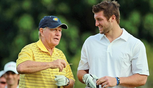 Tebow and Nicklaus at the Honda Classic pro-am