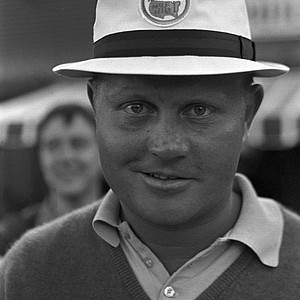 Jack Nicklaus poses at the 30th Masters tournament at the Augusta National Golf Club in Augusta, Ga., April 7, 1966. Nicklaus won his third Masters golf championship.