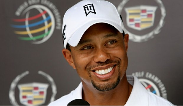 Tiger Woods during a press conference at the WGC-Cadillac Championship.