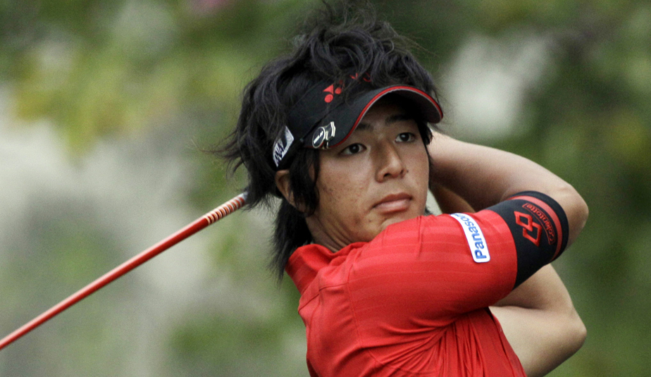 Ryo Ishikawa during the first round of the Cadillac Championship.