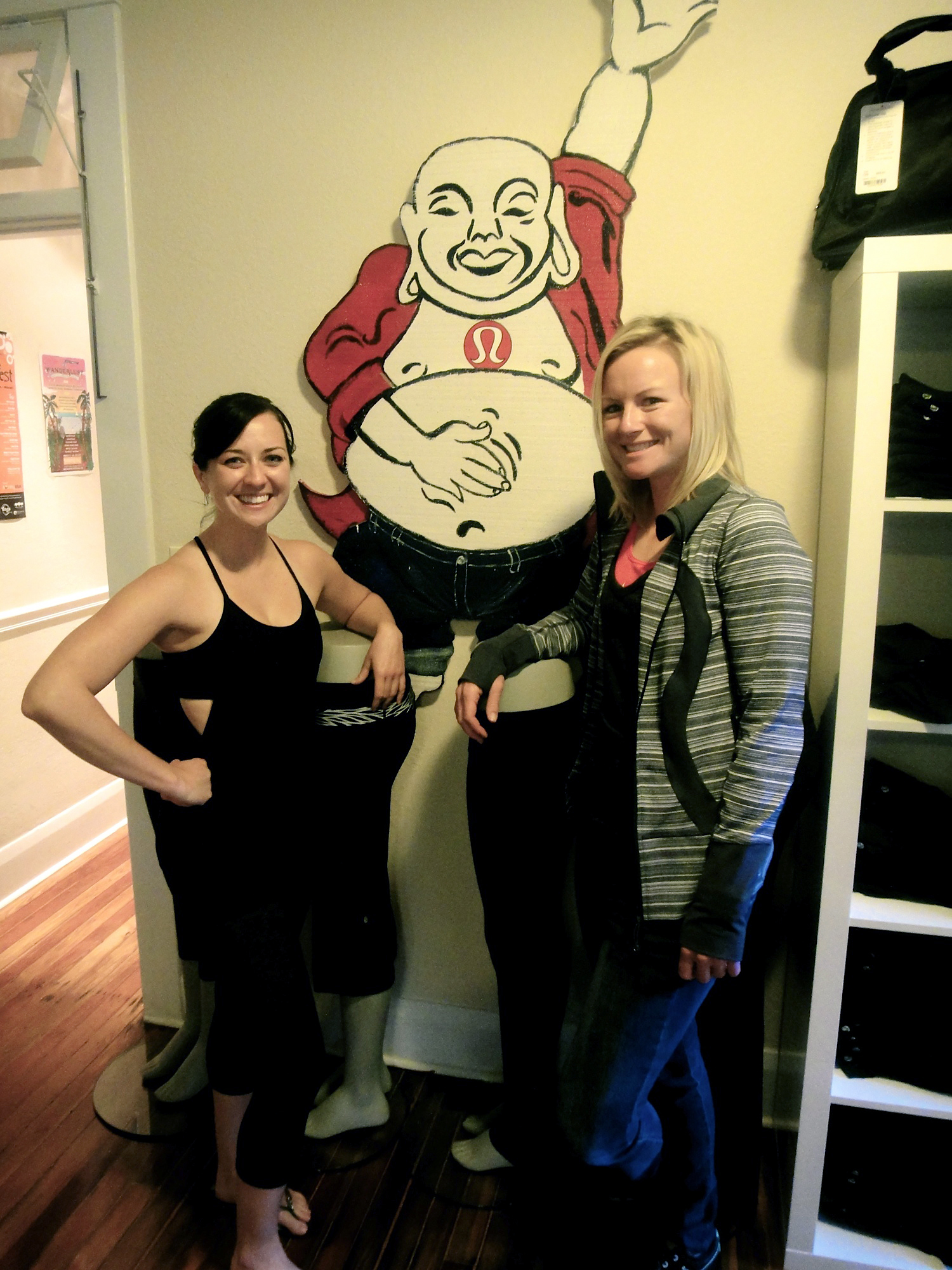 Erin of LuluLemon Athletica, left, has aided Nicole Noelle Smith with workouts and some gear for Nicole to enjoy on the Futures Tour this season.