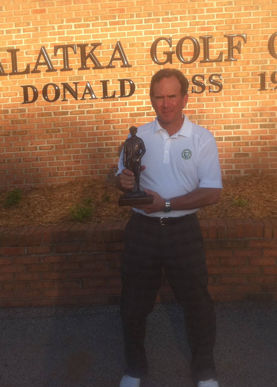 Chip Lutz with the Donald Ross Trophy