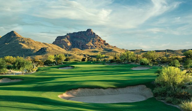 No. 8 at We-Ko-Pa's Saguaro course, designed by Bill Coore and Ben Crenshaw.