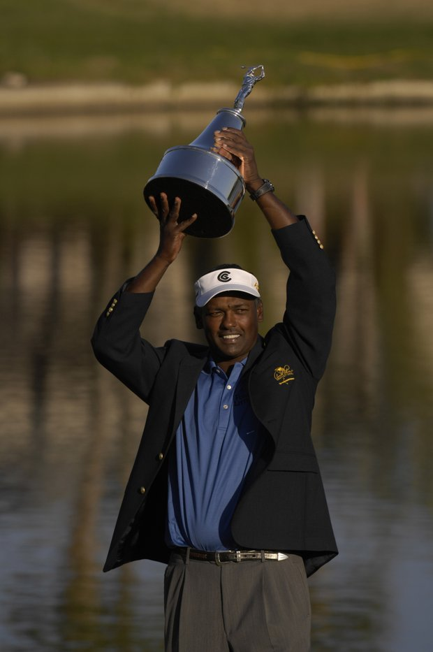 March 2007--Vijay Singh after winning the Arnold Palmer Invitational at Bay Hill in Orlando, Fl..