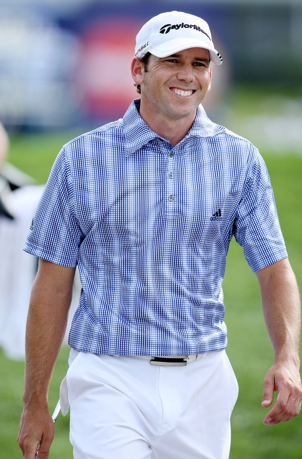 Sergio Garcia during his third round at the Arnold Palmer Invitational at Bay Hill, Saturday, March 15, 2008.