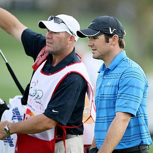 Orlando, FL--03/267/09--Trevor Immelman, right, during the Arnold Palmer Invitational at Bay Hill Club and Lodge.