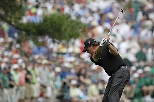 Phil Mickelson hits off the 17th fairway during the first round of the Masters golf tournament in Augusta, Ga., Thursday, April 8, 2010.