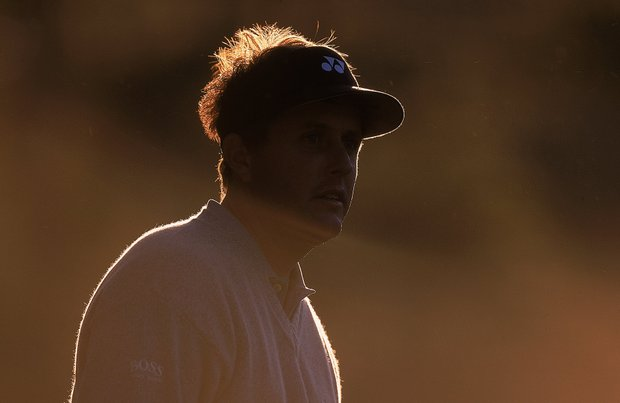 Phil Mickelson of the USA during the third round of the US Masters at Augusta National GC in Georgia on April 9, 2000.
