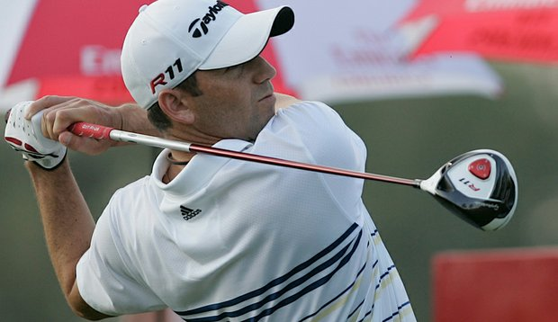 Sergio Garcia at the 2011 Dubai Desert Classic.