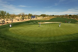 Hole No. 9 at Wildfire Golf Club at JW Marriott Desert Ridge Resort & Spa.