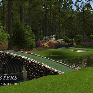 An image, courtesy of EA Sports, that shows No. 12 at Augusta National in the new Tiger Woods '12: The Masters edition, slated for release on March 29, 2011.