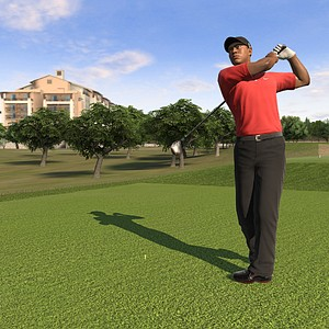 An image, courtesy of EA Sports, that shows Tiger Woods in San Antonio in the new Tiger Woods '12: The Masters edition, slated for release on March 29, 2011.