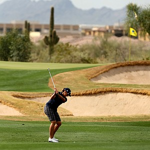 Katherine Hull during Round 1 of the RR Donnelley LPGA Founders Cup at Wildfire Golf club Phoenix, Arizona.