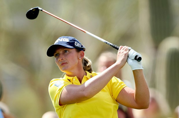 Angela Stanford during Round 1 of the RR Donnelley LPGA Founders Cup at Wildfire Golf Club.