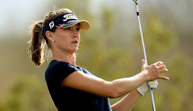 Danah Bordner during the first round of the RR Donnelley LPGA Founders Cup.