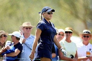 Natalie Gulbis at Wildfire Golf Club in Phoenix for the RR Donnelley LPGA Founders Cup.