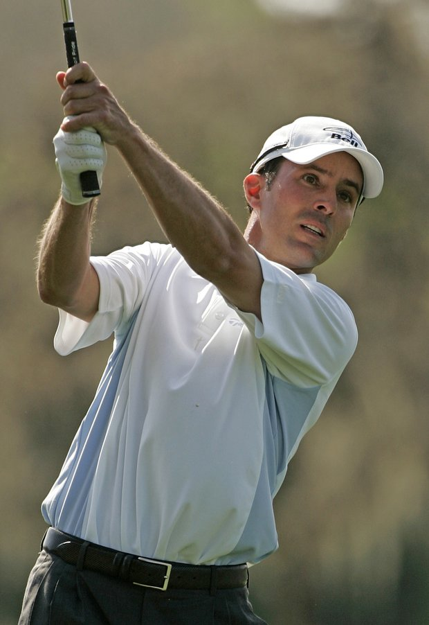 Mike Weir in action during the second round of the Bay Hill Invitational presented by MasterCard at the Bay Hill Club in Orlando, Florida on March 17, 2006.
