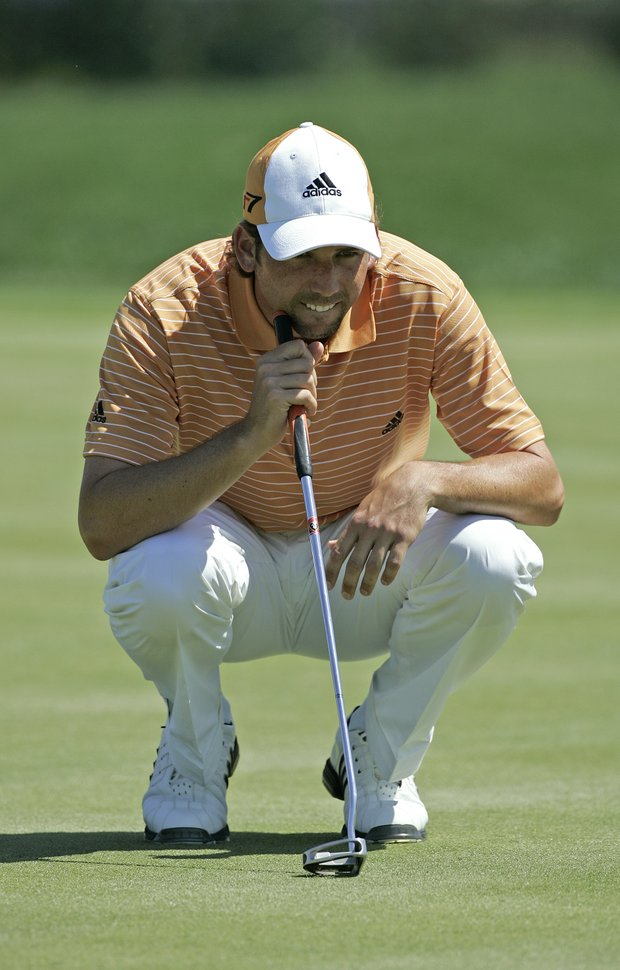 Sergio Garcia in action during the first round of the Bay Hill Invitational presented by MasterCard at the Bay Hill Club in Orlando, Florida on March 16, 2006.