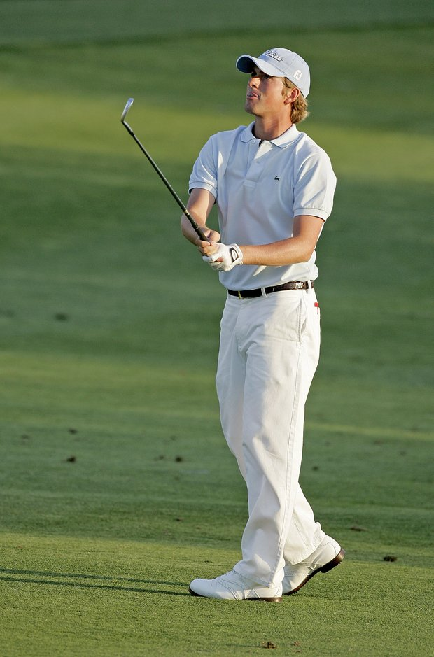 Webb Simpson in action during the first round of the Bay Hill Invitational presented by MasterCard at the Bay Hill Club in Orlando, Florida on March 16, 2006.