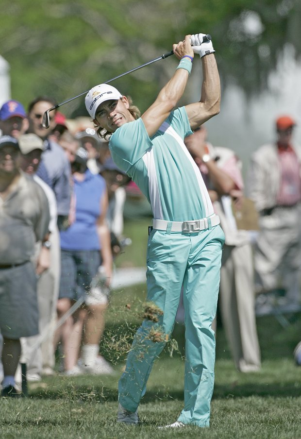 Camilo Villegas in action during the first round of the Bay Hill Invitational presented by MasterCard at the Bay Hill Club in Orlando, Florida on March 16, 2006.