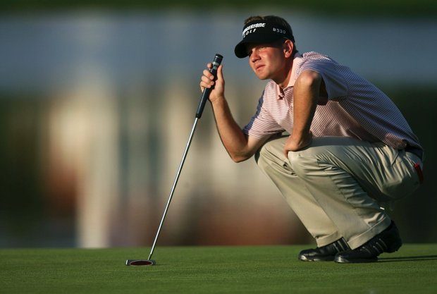 Billy Hurley III waits to putt on the 6th hole during the first round of the Bay Hill Invitational at Bay Hill Club March 16, 2006 in Orlanodo, Florida.