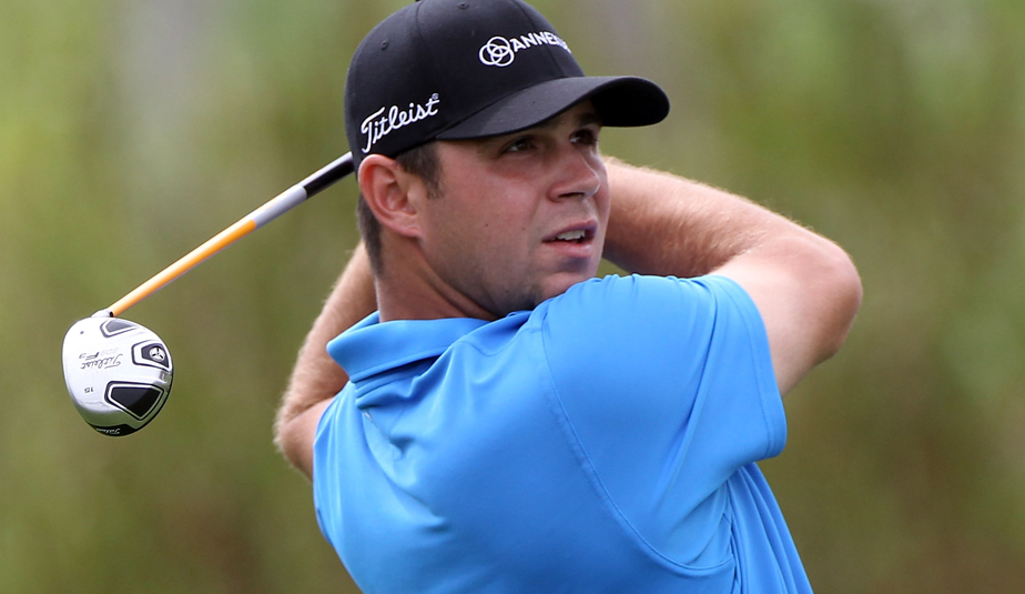 Gary Woodland plays a shot on the second hole during the final round of The Honda Classic at PGA National Resort and Spa.
