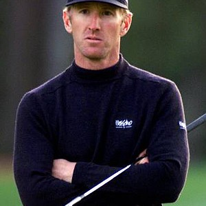 David Duval on the 15th hole during third round play of the Masters at the Augusta National Golf Club in Augusta, Ga.