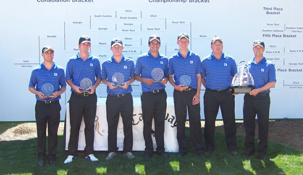 Duke after winning the Callaway Match Play Championship