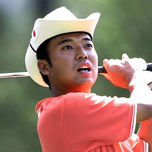 Shingo Katayama on the fourth hole during the third round of the 2001 Masters.