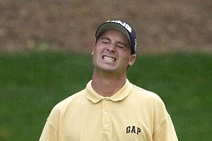 Chris DiMarco misses a birdie attempt on the 13th hole during the third round of the 2001 Masters.