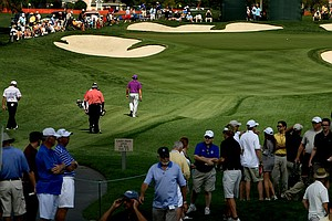 Rickie Fowler makes his way to No. 7 during Round 1 of the Arnold Palmer Invitational at Bay Hill Club & Lodge.
