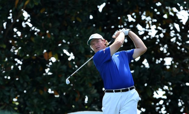 Defending champion Ernie Els at No. 2 during Round 1 of the Arnold Palmer Invitational at Bay Hill Club & Lodge.