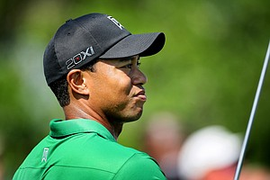 Tiger Woods watches his tee shot at No. 10 during Round 2 of the Arnold Palmer Invitational at Bay Hill Club & Lodge.