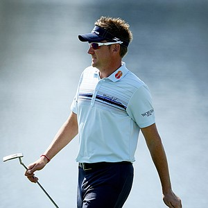 Ian Poulter at No. 18 during Round 2 of the Arnold Palmer Invitational at Bay Hill Club & Lodge.