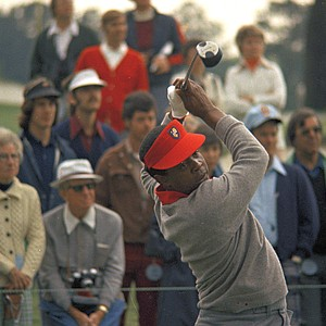 Lee Elder, first black golfer to participate in the Masters Tournament at Augusta, Ga., May 9, 1975.