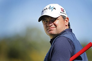 Scotland's Paul Lawrie reacts during the final round of the Andalucia 2011 Open golf tournament at Parador de Golf, in Malaga, southern Spain, Sunday, March 27, 2011.
