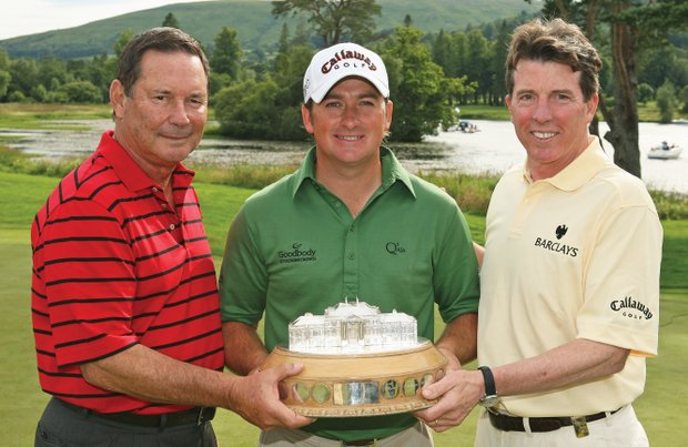 Lyle Anderson (left), shown with Barclays president Bob Diamond (right), and winner Graeme McDowell at the 2008 Barclays Scottish Open at Loch Lomond, one of four properties Anderson had to turn back over to the Bank of Scotland.