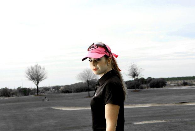 Orlando, Fla.--03/09/10--Paula Creamer photographed at Omni Resort for Sunglass shoot.