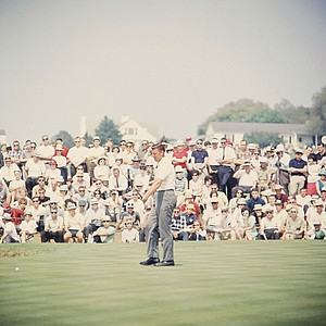 George Bayer shown at the Masters Golf Tournament in Augusta, Georgia April 1965.